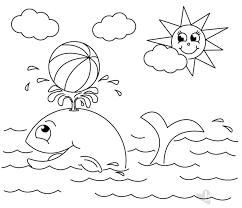 Balena E Sole Disegno Da Colorare Bimbi Sani E Belli