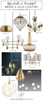 Affordable Brass and Gold Lighting under 200