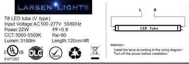 larsen lights led lights for your equipment 4 t8 led tube v picture of 4 t8 led tube