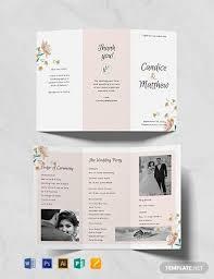 Free Tri Fold Wedding Program Templates Tadlifecare Com