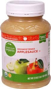 organic unsweetened applesauce 23 oz