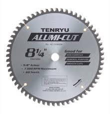tenryu blades. tenryu ac-21060dn 8-1/4 alumi-cut blade non-ferrous blades