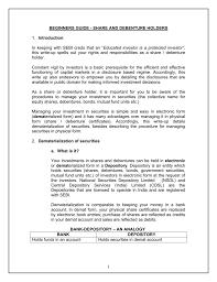 Form Of Share Certificate Share And Debenture Holders Sebi Investor Awareness Website