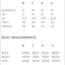 Jay Godfrey Size Chart 58 Genuine Zimmerman Size Chart
