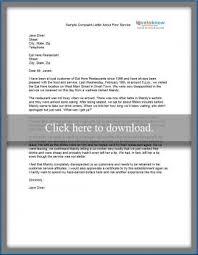 Complain Business Letter Sample Complaint Letters Lovetoknow