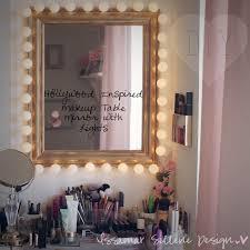 mirror with light bulbs diy. makeup desk with lights | bedroom vanity set ikea mirror light bulbs diy
