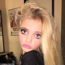 good 13 years old she s at it again princess was seen in yet more make good makeup