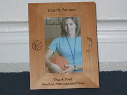 basketball coach picture frame personalized gift frame laser engraved basketball and whistle 23 jpg