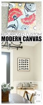 an easy way to repurpose old canvas art