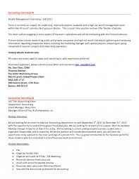 Ideas Of Accounting Cover Letter Internship No Experience