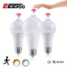 Dusk To Dawn Light Bulbs B Q Eeetoo Night Light Led Bulb Pir Sensor Motion Ac 85 265v B22