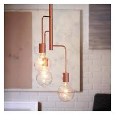 west elm lighting three light ceiling metro pendant 3 copper a liked on featuring home lights arm replacement parts