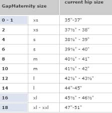 Gap Jeans Size Chart Gap Maternity Size Chart Swap Com Your Affordable Thrift