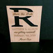 wooden save the dates