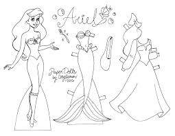 Barbie Paper Doll Coloring Pages Paper Dolls Coloring Pages Barbie