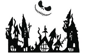 Tons of awesome nightmare before christmas wallpapers hd to download for free. Nightmare Before Christmas Town Silhouette Zoom Nightmare Before Christmas Halloween Halloween Window Silhouettes Nightmare Before Christmas