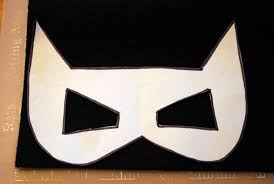 sunshine and a summer breeze free template for batman and catwoman felt masks