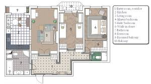 Design Of Three Room Apartment