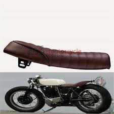 brown for suzuki gn125 gn400 gr650 gs gt tu250 universal cafe racer seat hump t1
