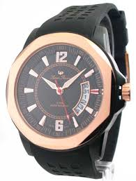 mens lucien piccard rubber rose gold date watch 28129ro mens lucien piccard rubber rose gold date watch 28129ro