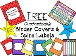 Editable Binder Cover Templates Free Free Editable Binder Covers By Brooke Brown Teach Outside The Box