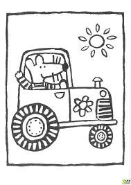 Coloriage Mimi Et Le Tracteur De La Ferme Dans La Cat Gorie