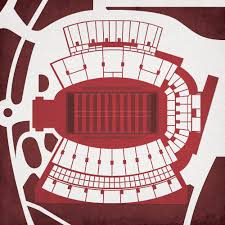 Davis Wade Stadium At Scott Field Map Art