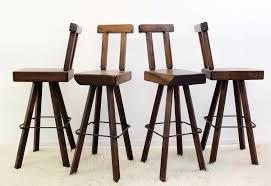 wood swivel bar stools. Set Of 4 Solid Wood Swivel Bar Stools - Other Seating Via Antica. \u2039 T