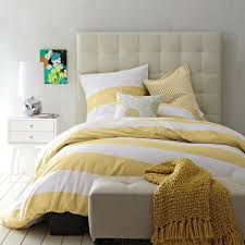 yellow rugby stripe duvet cover sweetgalas with regard to and white