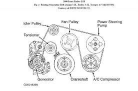 solved 1999 isuzu rodeo 4 cylinder belt diagram fixya here you go