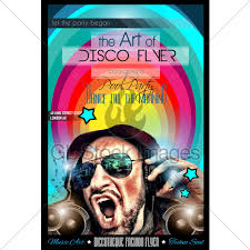 Disco Night Club Flyer Layout With Dj Shape · Gl Stock Images