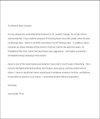 College Recommendation Letter For Student College Re Letter Template Awesome Reference Sample From Teacher