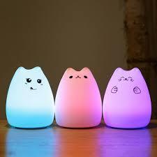 Goede Kopen Usb Oplaadbare Led Kleurrijke Nachtlampje Dier Kat Stype