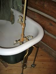 clawfoot tub fixtures. The Owner Had Picked Up A New Drain And Faucet With Shutoffs At Floor. Clawfoot Tub Fixtures