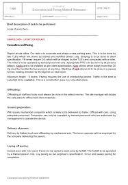 Method Of Statement Best Excavation And Paving Method Statement