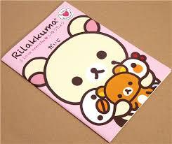 cute notepad drawing book with big korilaka bear 2