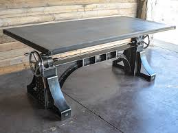 industrial furniture table. Unique Table Crank Desk With Industrial Furniture Table R