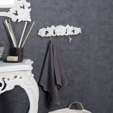 two hook wall mounted towel holder