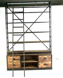 exciting diy rolling ladder bookcase rolling ladders