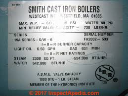 Heating Equipment Age Determination How To Read Data Tags