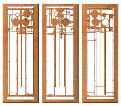 frank lloyd wright ley set of three wall panels cherry craftsman wall accents by maclin studio