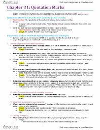 Eng100h5 Textbook Notes Summer 2016 Chapter 31