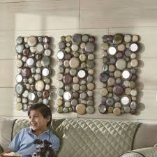 set of 3 shimmering pebbles wall art on rock art wall hanging with 25 best wall art images on pinterest art walls living room and