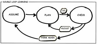 The double-loop in double loop learning consists of questioning the basic  strategy and foundation on which you are working with.