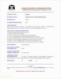 Preschool Teacher Assistant Job Description Resume Beautiful 15