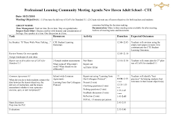 sample agenda sample plc training agenda