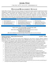 Resume Education Examples Program Manager Resume Example Finance And Global Education