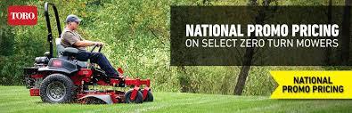 toro national promo on select zero turn mowers