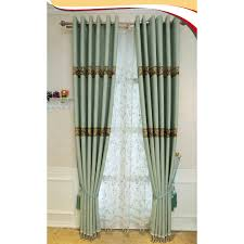 Patio Door Curtain Curtain Green Waverly Embossed Embroidery Linencotton Blend Patio
