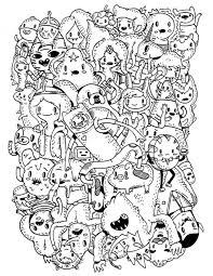 Small Picture Adventure Time Characters Coloring Papers Of AllTimePrintable